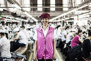 Ando International, a Vietnamese garment firm with 900 workers in Ho Chi Minh City, has improved a lot in labour standards since joining Better Work Vietnam. Source - ILO/Aaron Santos